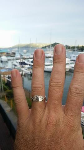 Kevin's ring in Virgin Islands
