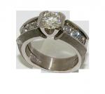 Diamond and 18ct White Gold